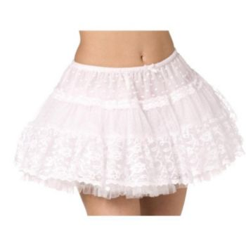 Tulle Lace Petticoat - White