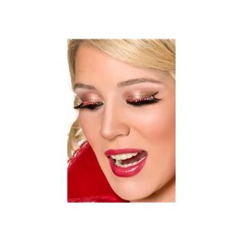 Eyelashes with Red Crystals - 1 Pair