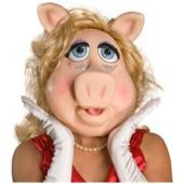 The Muppets Ms. Piggy Deluxe Overhead Latex Mask Adult