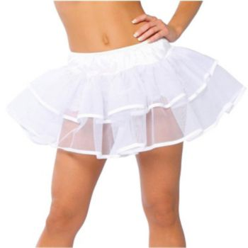 White Double Layer Petticoat