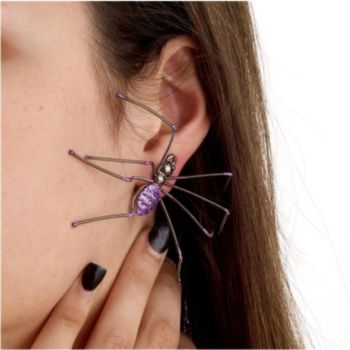Spider Purple Earrings