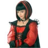 Vampire Black & Red Girl's Wig
