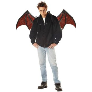 Blood Red Adult Demon Wings