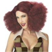 Disco Diva Red Afro Wig