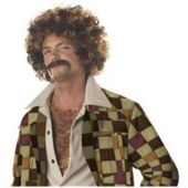 Disco Dude Wig & Mustache Set