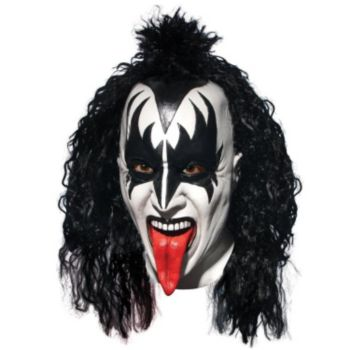 Kiss Demon Full Mask With Hair