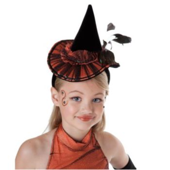 Orange Tutu Witch Child Headband