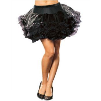 Ursula Black Adult Petticoat