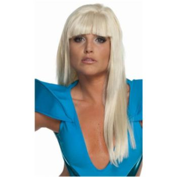 Lady Gaga Straight Blonde Wig With Bangs