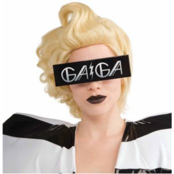 Lady Gaga Printed Black Glasses Adult