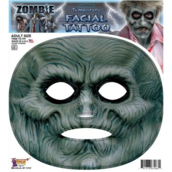 Zombie Facial Tattoo Adult