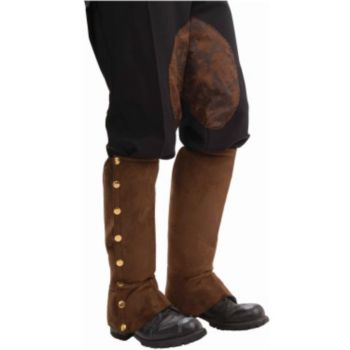 Steampunk Brown Men's Spats
