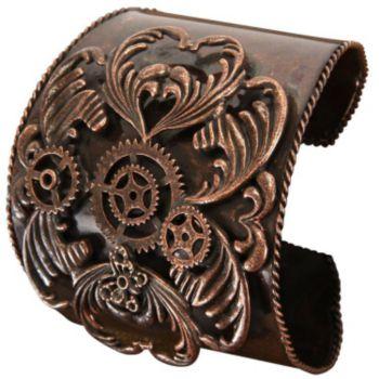 Steampunk Antique Copper Bracelet