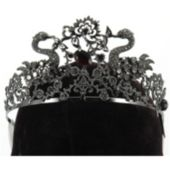Black Jeweled Tiara Adult