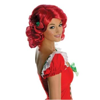 Strawberry Shortcake Deluxe Adult Wig