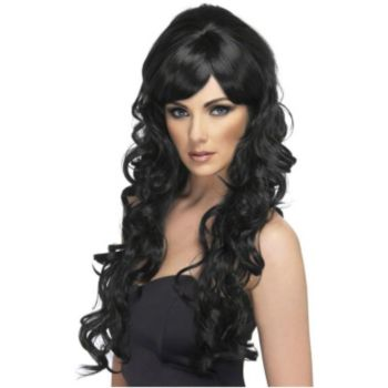 Pop Starlet  Black Adult Wig