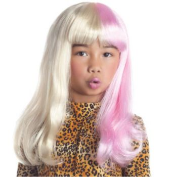 Two Tone Diva Blonde & Pink Child Size Wig