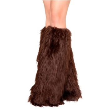 Brown Adult Leg Warmers
