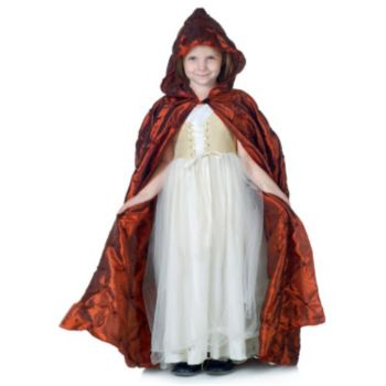Red Pintuck Cape Child
