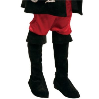Black Sueded Pirate Boot Tops Child