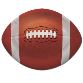 "Football Shape  8 34"" Paper Plates"