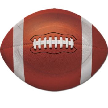 "Football Shape 10 34"" Paper Plates"