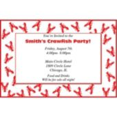 Crawfish Personalized Invitations