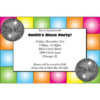 Disco Dance Custom Invitations