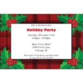Plaid & Holly  Personalized Invitations