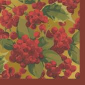 Poinsettia Elegance Beverage Napkins