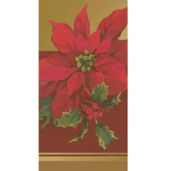 Poinsettia Elegance  Guest Towels