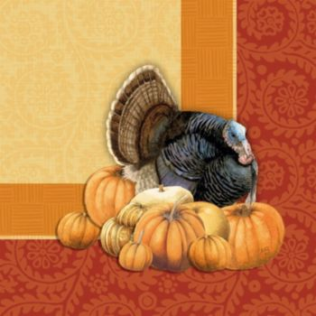 Thanksgiving Harvest  Lunch Napkins