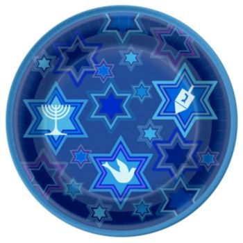 "Happy Hanukkah  7"" Plates"
