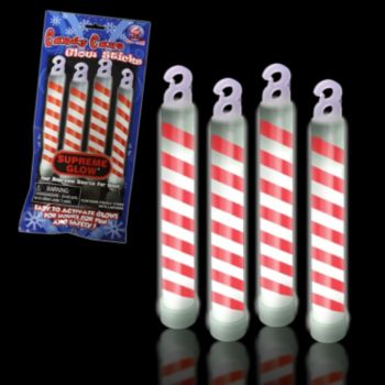 Candy Cane Swirl Glow Sticks - 6 Inch, Retail Pack