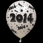 """2014 White 14"""" Balloons"""