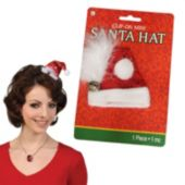 Santa Hat Clip On Fascinator