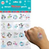 "Winter Wonderland 1 1/2"" Tattoos - 120 Pack"