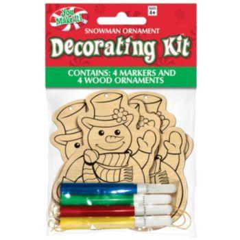 Snowman Ornament Decorating  Kit