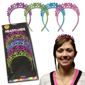 Glitter Star  Multi Color Headbands
