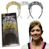 Glitter Star Headbands - 12 Per Unit
