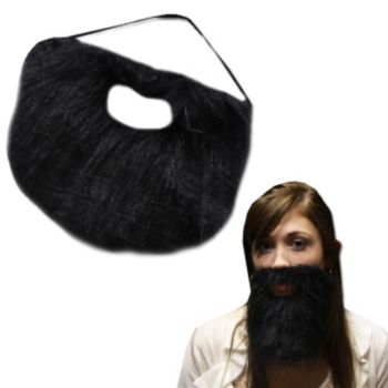 Black Beard with Elastic Band