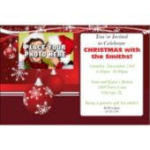 Christmas Photo Personalized Invitations