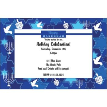 Happy Hanukkah Custom Invitations