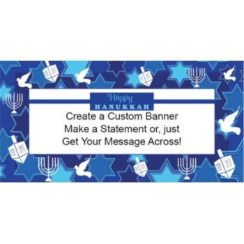 Happy Hanukkah Custom Vinyl Banner