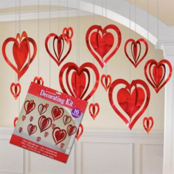 Heart Shape  3-D Danglers