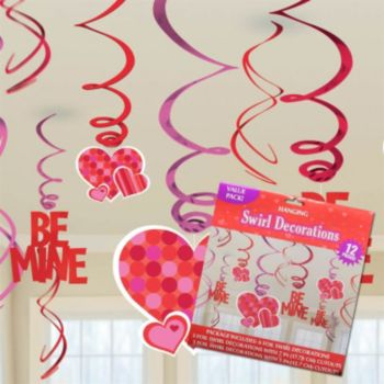 Valentine's Swirl  Metallic Decorations