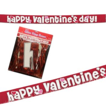 Happy Valentine's Day  Fringed Banner