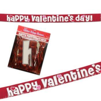 Happy Valentine's Day  Fringed Banner
