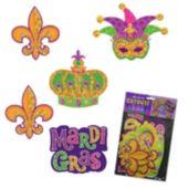 Mardi Gras Glitter Cutouts