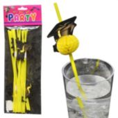 Graduation Cap Bendable Straws